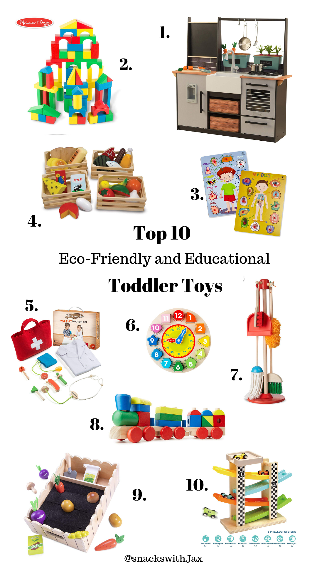 Top 10 Eco-Friendly & Educational Toddler Toys - Snacks ...
